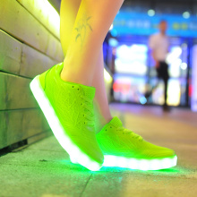 GLow Sneaker LED Shoes Pink White Green Color For Women