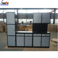 Home/apartment modular metal kitchen cabinet simple designs