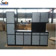 Projetos simples do armário de cozinha modular do metal da casa / apartamento
