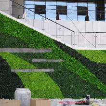 Cerca viva artificial modificada para requisitos particulares fresca al aire libre del PE para la decoración
