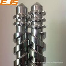 Procesado de PVC tornillo bimetálico gemelo paralelo