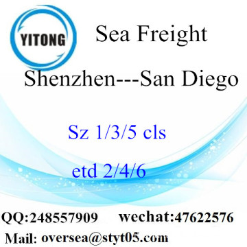 Shenzhen Port LCL Consolidamento A San Diego