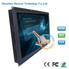 1366X768 resolution 26 inch open frame TFT color touch screen LCD monitor with USB port