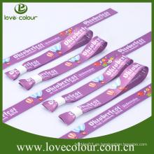 Brazalete de una sola vez de color personalizado de uso / pulsera de sublimación impresa