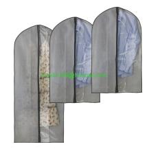 Reise-Kleidersack-Staubschutz-hängender Speicher für Anzüge, Kleider, Kleidung, Reise mit vollem starkem Reißverschluss und freiem Fenster, Satz O