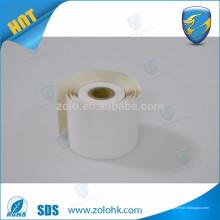 Amostras grátis polpa de madeira virgem tamanho personalizado papel térmico qc passa impresso pos rolo de papel térmico