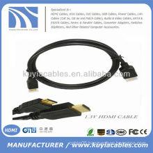 Black 1.4 HDMI to Mini HDMI cable
