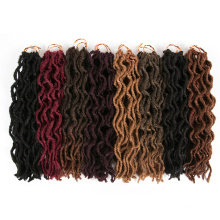 Extensões de cabelo de crochê encaracolado sintético macio faux Locs