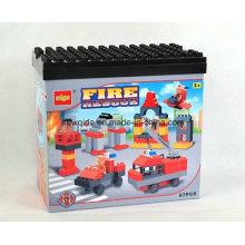 Bloque de construcción de los juguetes educativos de los motores de fuego 67PCS con el cubo