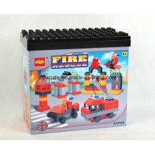 67PCS Fire Engines Educational Toys Building Block with Bucket