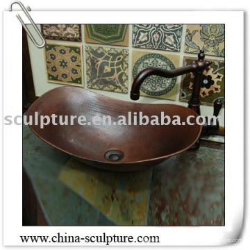 Évier de cuivre pour décoration d'hôtel / évier en métal