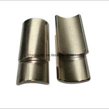 Aimants à moteur en néodyme, forme d'arc avec revêtement de nickel