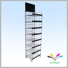 Customized free standing durable metal wire retail shop display racks