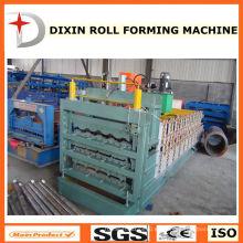 Azulejo esmaltado de tres capas de chapa de techos galvanizado que hace la máquina