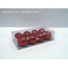 красный блестящий рождественские зеркальные шары