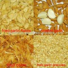 Cebola frito e grânulos de alho frito e flocos