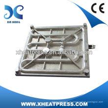 Placa de aquecimento de alumínio de fundição elétrica móvel para máquina de imprensa de calor