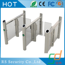 Double Lane Office Pedestrian Glass Turnstile Gate