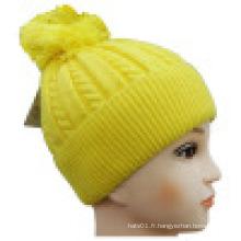 Bonnet tricoté avec POM POM NTD1602