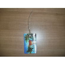 Good Quality Custom 3D Effect Luggage Tag with PVC Rope