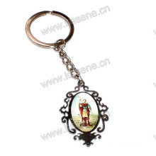 Hot Sale Stainless Steel Carve Saint Religious pendant Rosary Keychain