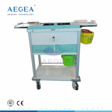 AG-MT033 Hospital medical movable treatment surgical room used drawers phlebotomy cart