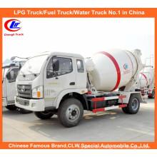 Small 3cbm Concrete Mixer Truck for 5m3 Cement Mixer Truck