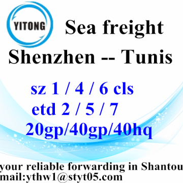 Shenzhen Ocean Global Freight Service à Tunis d'expédition