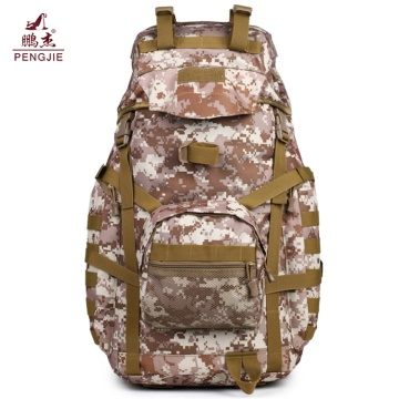 Hiking Camo Thick Canvas Military Rucksack Backpack