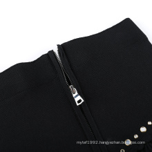 20ALW002 ladies knit dress women sweater ottoman waistband skirt