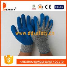 Анти-вырезать высокая производительность защитные перчатки с Латексным покрытием на ладони Dcr310