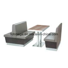 Neues Design Einzel-und Doppel-Restaurant Sofa Booth Set (FOH-CBCK05)
