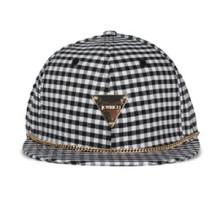 Allover Fashion Plaid Cap Triangle Labeled Caps