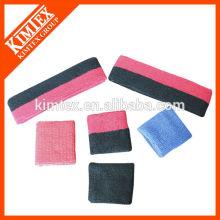 Terry cotton cheap custom wholesale sweatband sets