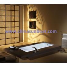 Sunboat Cast Iron Badewanne Single Badewanne eingebettet Slip Eneped Emaille Badewanne