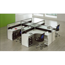 practical 4 people glass partition office supplied with drawer