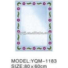 Hangzhou Xiaoshan 4mm Silver or Aluminum Empaistic Mirror Single or Double Layer Bath Mirror