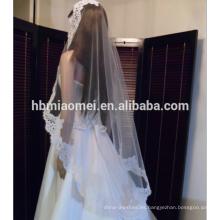 Velo de novia mejor vendido velo retro de encaje Coreano accesorios de la boda velo esencial velo de novia al por mayor