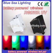4pcs 18w rgbwa uv bateria sem fio powered luz par