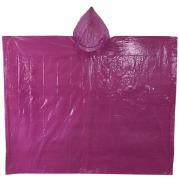 Promosi Square Plastic Disposable PE Rain Poncho