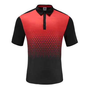 Polo Homme Dry Fit Soccer Wear Rouge