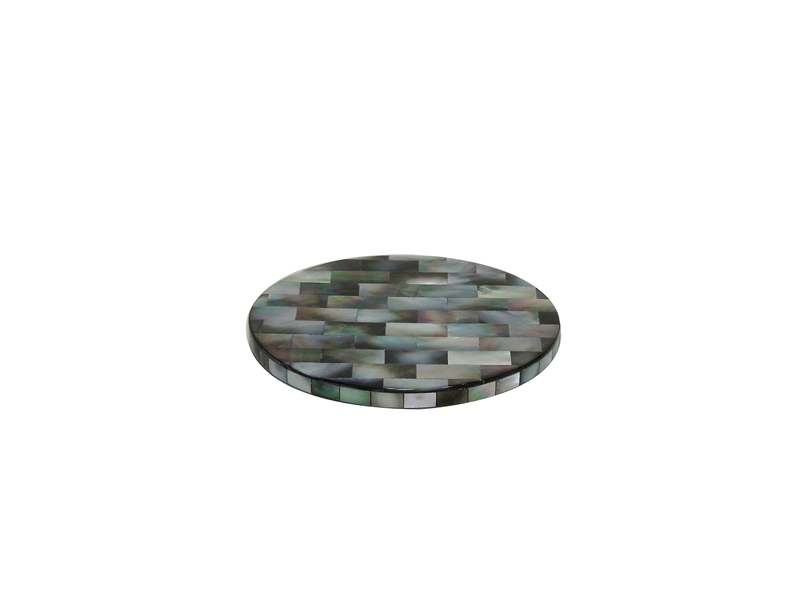 black mother of pearl cup coaster
