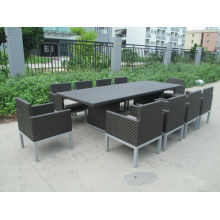 F -Hôtel meubles salle à manger en rotin tissage rotin salle à manger (CF935T + CF935C)