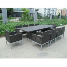 F -Hotel dining room furniture fishbon weaving rattan dining set (CF935T+CF935C)