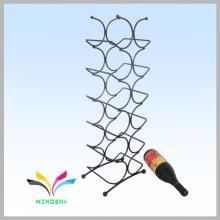 Diseño personalizado cubierto de polvo de metal botella de vino tinto stand de exhibición