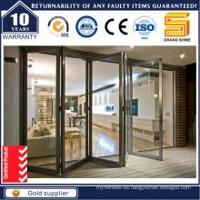 Puerta plegable de aluminio / puerta plegable de aluminio / puerta multi-hoja