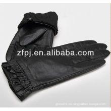 Guantes de cuero elegent de la piel de la cabra de la manera de las mujeres con diseño especial
