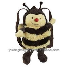 Fábrica al por mayor de animales en forma de mochila de peluche mochila de abeja