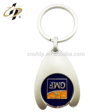 2017 high quality zinc alloy metal coin token keyring with enamel