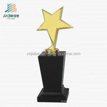 Trofeo promocional de la estrella del metal de la galjanoplastia del oro de la fundición de la aleación del regalo promocional